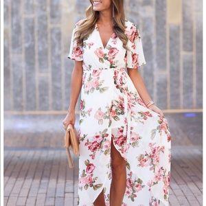 Show me your Mumu floral wrap dress